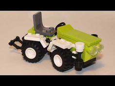 Садовый трактор из Лего (мини-инструкция) - YouTube