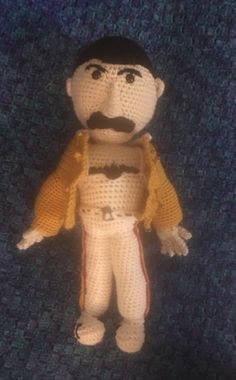 This is my take on the rock icon Freddie Mercury. Call My Friend, Queen Pictures, Love My Family, Freddie Mercury, Big Kids, Kids Toys, Plush, Teddy Bear, Craft Ideas