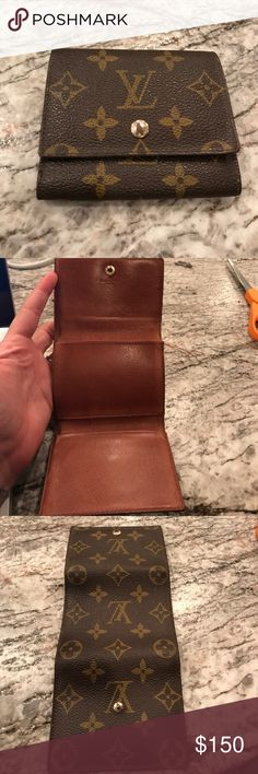 Authentic vintage Louis Vuitton card case Lv monogram card case. 4x 3.5 when folded. Signs of wear. Some seams coming undone. All in pictures. Reasonable offers welcome!! Louis Vuitton Bags Wallets