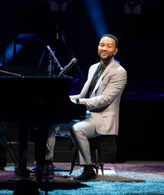 John Legend gives all of himself during a performance on Aug. 18 in Los Angeles