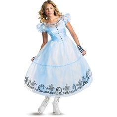 Flamboyant Alice in Wonderland Movie - Deluxe Alice Adult Costume. Elegent ideas of Alice in Wonderland Costumes for Halloween at PartyBell. Costume Alice, Modest Halloween Costumes, Alice Halloween, Blue Costumes, Halloween Fancy Dress, Disney Costumes, Costume Dress, Adult Costumes, Costumes For Women