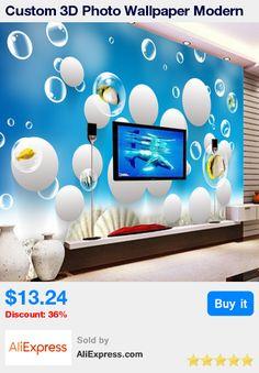 Custom 3D Photo Wallpaper Modern Abstract Circles Large Mural Children Bedroom Living Room Wall Contact Paper Papel De Parede 3D * Pub Date: 02:38 Jun 26 2017