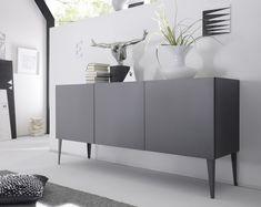 Livia grey or white matt lacquered sideboard - Sideboards - Sena Home Furniture Selling Furniture, Home Furniture, Furniture Design, Modern Sideboard, Sideboard Cabinet, Sideboard Ideas, Side Board, Stolmen Ikea, Buffet Design