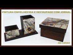 TUTORIAL efeito madeira em MDF usando tinta PVA - YouTube