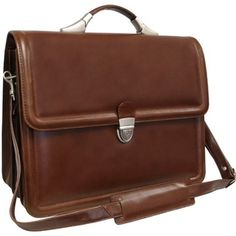 Amerileather Savy Leather Executive Briefcase   Overstock.com Shopping - The Best Deals on Leather Briefcases