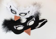 halloween-swan-mask. Tutorial and printable mask in adult and child size!