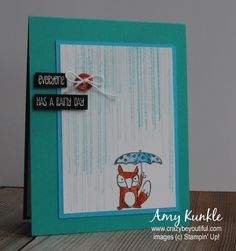 FM206, raining on my fox by amykunkle - Cards and Paper Crafts at Splitcoaststampers