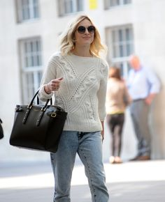 Fearne Cotton with Aspinal's Marylebone tote in black