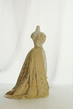 Dress ca. 1888 via The Kyoto Costume Institute.     Bustles are coming back, right?