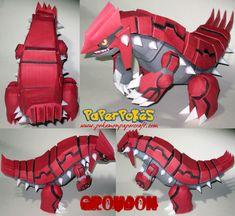 Pokemon Birthday, Pokemon Party, Pokemon Go, Papercraft Pokemon, Pokemon Craft, Tifa Lockhart, Wall E, Clone Trooper, Groudon Pokemon