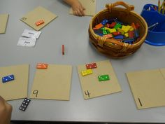 Match domino dots to numbered boards.