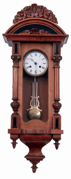 Antique Clock Regulator Clock With Horse Carving And