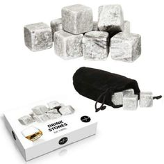 A fabulous set of 9 Sagaform Whiskey Stones also known as reusable ice cubes will chill your drink to perfection. A great Father's Day gift for a Whiskey Lover. Whiskey, Bar Gifts, Great Father's Day Gifts, Bar Accessories, Vodka, Ale, Ice Cubes, Kitchen Gadgets, Barware