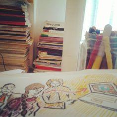 #HadafTeam rappresenta il mondo dell' #arte e della #cultura. Studio e #creatività con le illustrazioni di #SaraMorghese