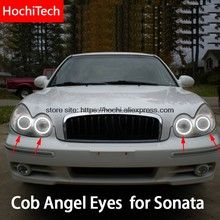 Online Shop Car Headlamp Lens For Hyundai Sonata 2003 2004 2005 2006 2007 Car Replacement Front Auto Shell Cover Led Angel Eyes, Hyundai Sonata, Car Shop, Car Lights, Automobile, Shells, Lens, Cob, Halo