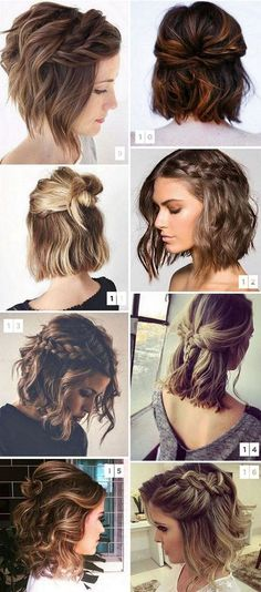 35 cute hairstyles for short hair 2018 # fashionhijab . - 35 cute hairstyles for short hair 2018 # fashionhijab - Cute Hairstyles For Short Hair, Hairstyles Haircuts, Pretty Hairstyles, Curly Hair Styles, Short Hair Braid Styles, Short Hair Wedding Styles, Wedding Hairstyle Short Hair, How To Style Short Hair, Braids For Short Hair