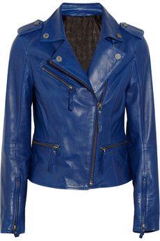 Karl Lagerfeld Odina leather biker jacket | NET-A-PORTER Get it here:http://rstyle.me/n/f8sr4wx26