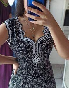 Dress Neck Designs, Designs For Dresses, Abaya Fashion, Fashion Dresses, Yellow Evening Dresses, Salwar Designs, House Dress, Fashion Sewing, Traditional Dresses