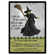 The Wizard of Oz | Wicked Witch Halloween Invitations from PaperStyle