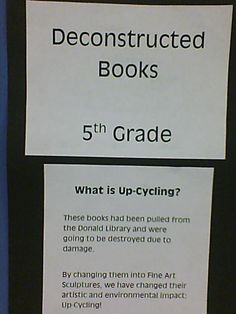 (the way cool) Donald Art Room: Deconstructed Books: 5th Grade