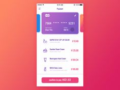 Payment by BlueCat #Design Popular #Dribbble #shots