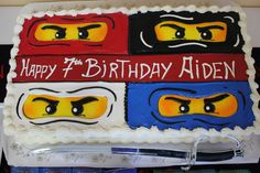 Tala Events's Birthday / Ninjago Taekwondo Party - Photo Gallery at Catch My Party Bolo Ninjago, Bolo Lego, Lego Ninjago Cake, Ninjago Party, Lego Cake, Ninja Birthday Parties, Boy Birthday, Birthday Cakes, Birthday Ideas