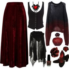 - Sack the velour skirt, the kitsch vampy teen-goth necklace and ring, and the shoes too.. then we're talking.