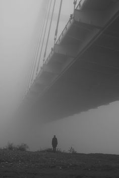 Bridge in the fog by Łukasz Breitenbach #city #photography
