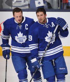 Dion Phaneuf and Joffrey Lupul 😘 Hockey Teams, Hockey Players, Sports Teams, Maple Leafs Hockey, National Hockey League, Toronto Maple Leafs, Boston Bruins, Ice Skating, My Boys