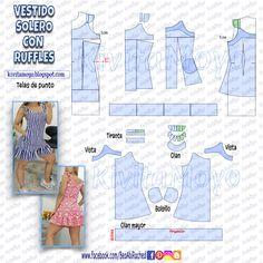 Diy Emo Clothes, Barbie Clothes, Sewing Clothes, Formal Dress Patterns, Dress Sewing Patterns, Clothing Patterns, Simple Dress Pattern, Sewing Basics, Diy Dress