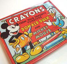 Tin crayon box, 1950