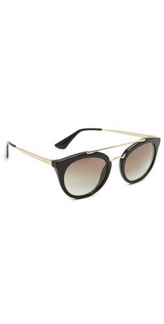 f1a0636d728 Prada Round Aviator Sunglasses
