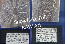 Snowflake Foil Art and the book Snowflake Bentley - Their snow stories are priceless!  Art Julz