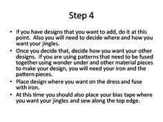 How to make a Jingle Dress - OST