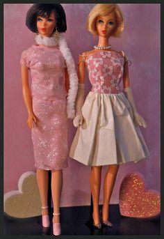 Vintage Barbies - Twist n' Turn Hair Fair Barbies - Mod Era