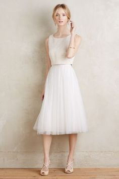 What is that top!?? Tulle Midi Skirt via anthropologie
