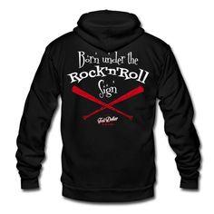 Born under the Rock'n'Roll sign - Unisex Fleece Zip Hoodie