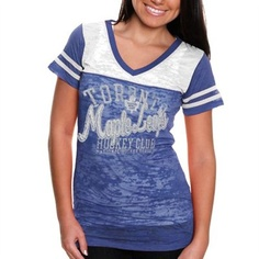 Touch by Alyssa Milano Toronto Maple Leafs Women's Coop 2 Premium T-Shirt - Royal Blue/White @fanatics #FanaticsWishList