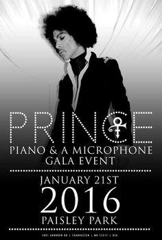 Prince ~ Piano & A Microphone Gala Event ~ January 21st 2016 Paisley Park