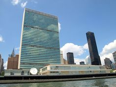 United Nations Headquarters, East River, New York City