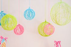Bolas de lana para decorar. Tutorial.