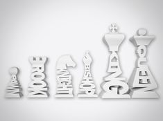 Awesome Typographic Chess Set Spells Out Name Of Each Piece