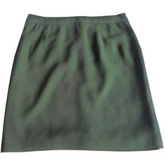 Pre-owned BARBARA BUI Green Viscose Skirt ($77) ❤ liked on Polyvore featuring skirts, bottoms, clothes - skirts, green skirt, barbara bui, viscose skirt and rayon skirt