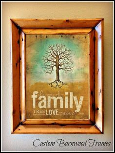 custom barnwood frames family roots framed print 2900 http