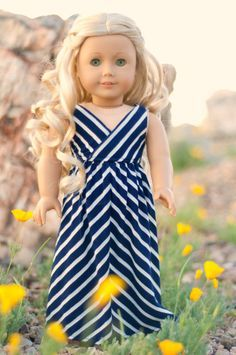 Now if you're like me, I love maxi dresses. I really want this American Girl doll outfit badly!