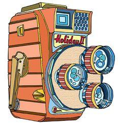 Video camera illustration.