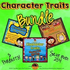 In this Character Traits Bundle is everything you need to teach character traits (needed to be able to describe characters in the Common Core standards). $10.00