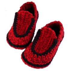 Children's Loafer Slippers (crochet pattern)