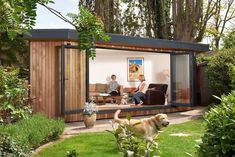 Beautiful triangular family garden room in Teddington, London Garden Lodge, Garden Cabins, Garden Images, Garden Pictures, Vertical Garden Planters, Garden Room Extensions, Garden Flag Stand, Backyard Studio, Garden Guide