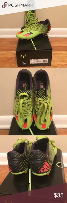 Messi cleats Messi 15.3. Worn only few times. Good condition Adidas Shoes Athletic Shoes